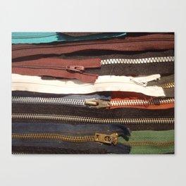 zipper en long Canvas Print