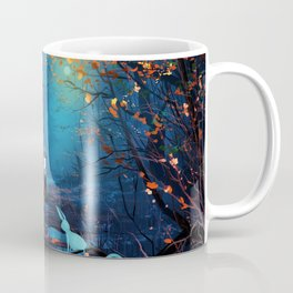 Tardis And The Doctor Lost In The Forest Coffee Mug