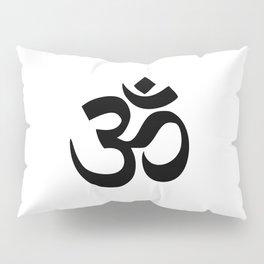 Minimal Black & White Om Symbol Pillow Sham