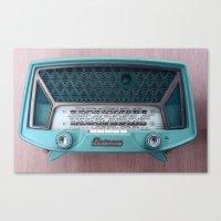 radio Canvas Prints featuring VINTAGE RADIO by 2sweet4words Designs