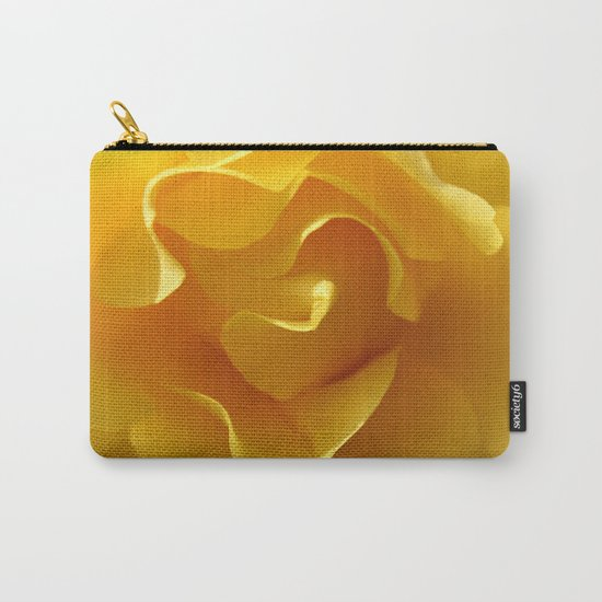 Yellow Rose Ruffles Abstract Carry-All Pouch