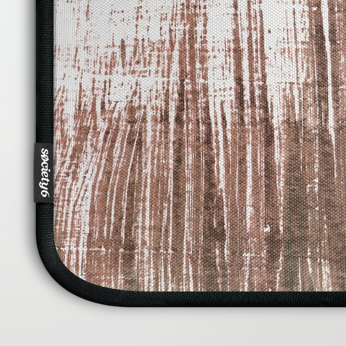 Brown abstract Laptop Sleeve