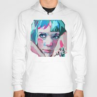 grimes Hoodies featuring Grimes by Tiffany Baxter