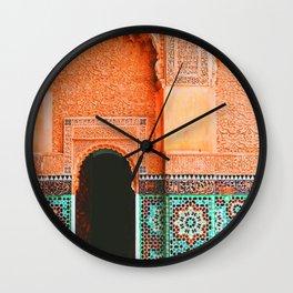 marrakech doorway Wall Clock