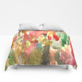 Watercolor Jungle Comforters