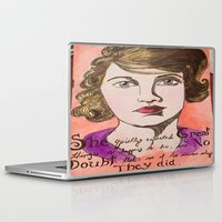 fitzgerald Laptop & iPad Skins featuring Zelda the Great  by Jstone14