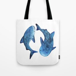 Starry Whale Sharks Tote Bag