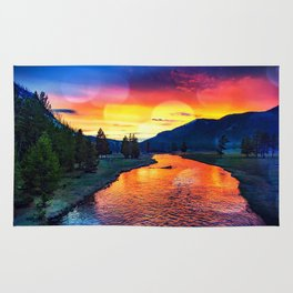 Sunset at Yellowstone Rug