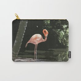 Glamourous Flamingo Carry-All Pouch