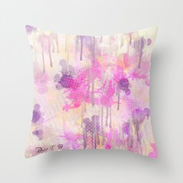 Painting In The Rain Throw Pillow