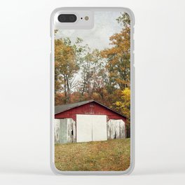 Cromwell Barn in Autumn Clear iPhone Case