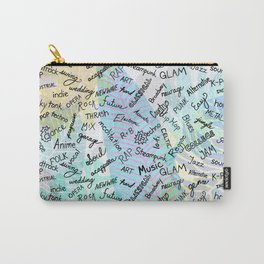 Colourful Music Categories Handwriting Carry-All Pouch