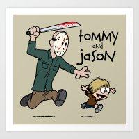 Tommy and Jason Art Print