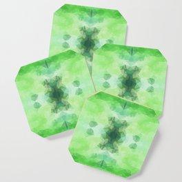 """Fresh greenery"" triangles design Coaster"
