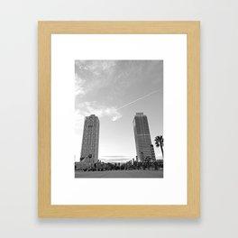 Mapfre towers Framed Art Print