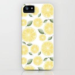Fresh Fruit Slice of Lemon Pattern iPhone Case
