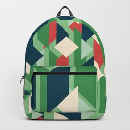 Abstract geometric background. Modern overlapping rectangles and triangles. Backpack