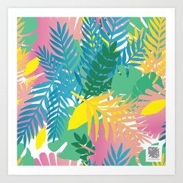 Wild tropical Art Print
