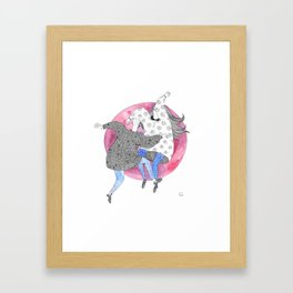 Your moves are charming! Framed Art Print