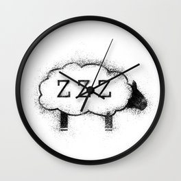 ZZZ Sheep - Distressed Wall Clock
