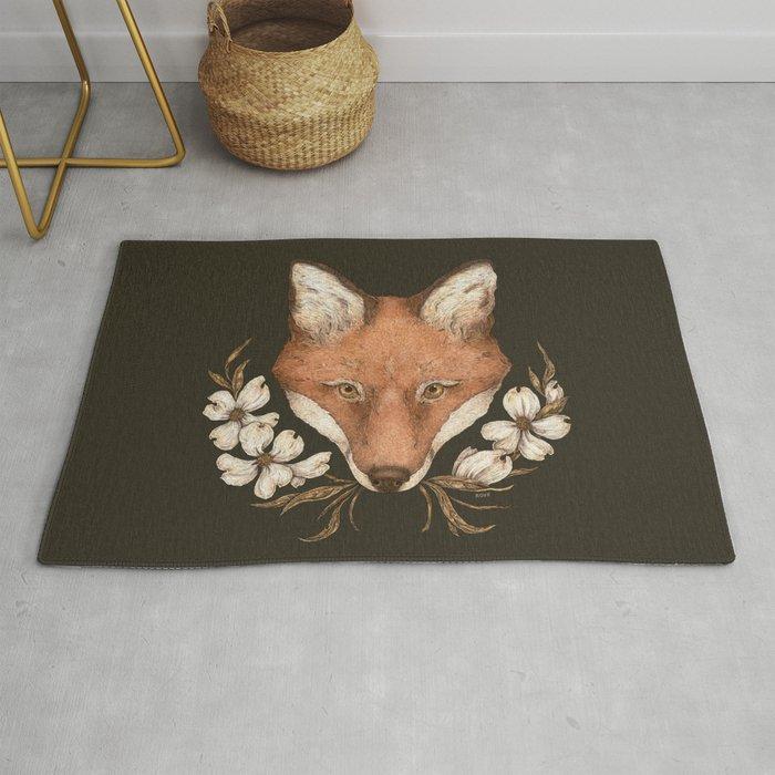 The Fox and Dogwoods Rug