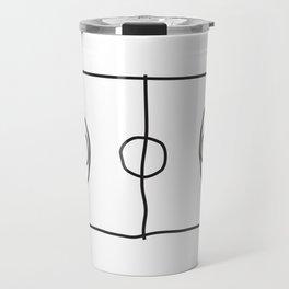 Basketball in lines Travel Mug