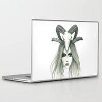 zodiac Laptop & iPad Skins featuring Zodiac - Aries by Simona Borstnar