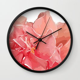 Juicy Hibiscus Wall Clock