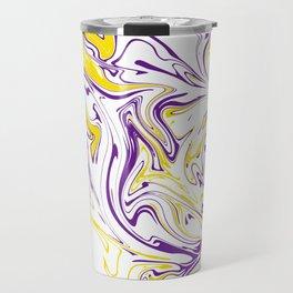 MARBLE FLUID ART #001 Travel Mug