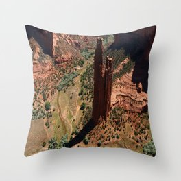 Amazing Spider Rock Throw Pillow