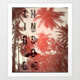 Busy Palms Art Print
