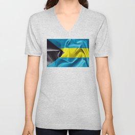 Bahamas Flag Unisex V-Neck