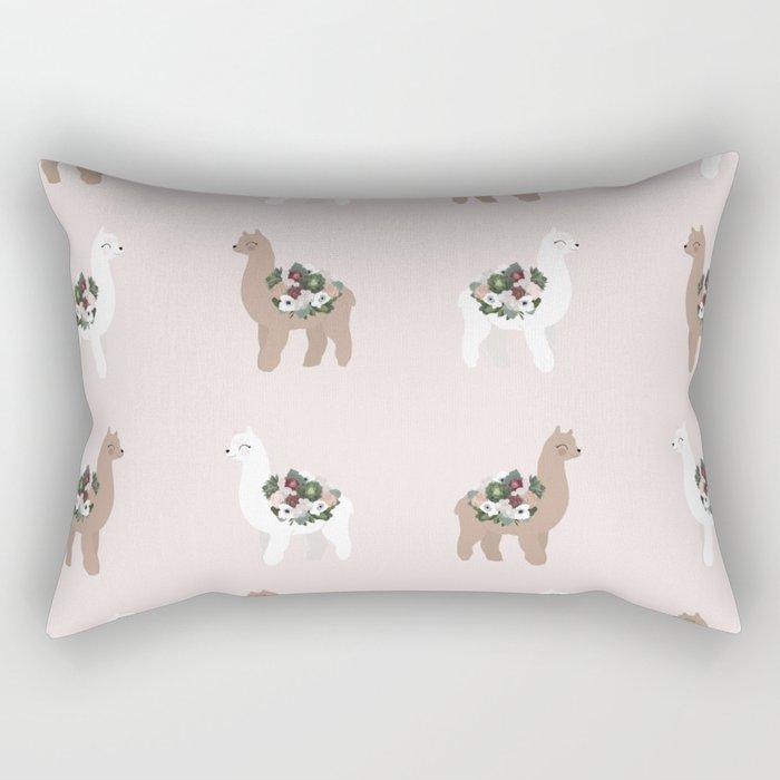alpaca print Rectangular Pillow