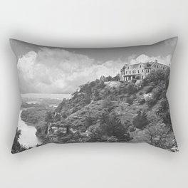 Ha Ha Tonka-Black and White Strokes Rectangular Pillow