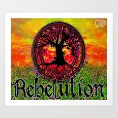 Rebelution Bright Side of Life Tree of Life #4 Sunset Art Print