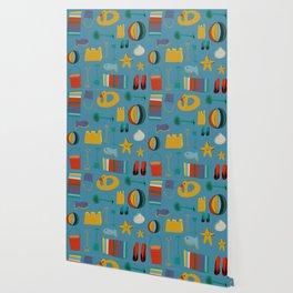 beach gear blue Wallpaper