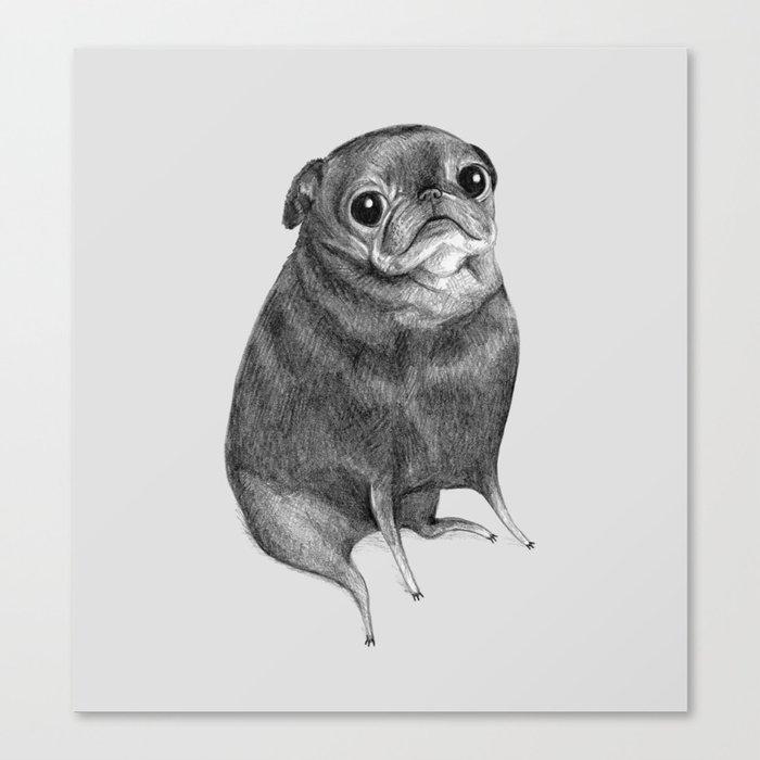 Sweet Black Pug Leinwanddruck