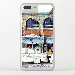 South Beach Sidewalks Clear iPhone Case