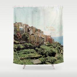 la vita è bella Shower Curtain