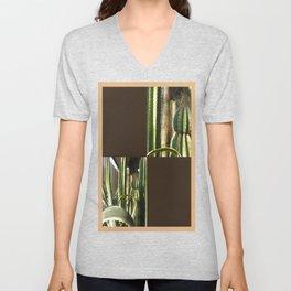 Cactus Garden Blank Q3F0 Unisex V-Neck