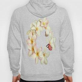 Plumeria Tropical Flower Garland Hoody