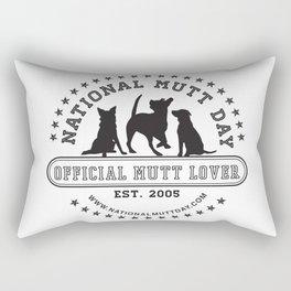 National Mutt Day Official Logo Rectangular Pillow