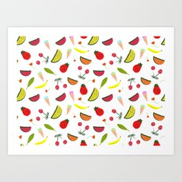 Vegan Goodies Pattern Art Print