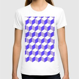 Diamond Repeating Pattern In Nebulas Blue and Grey T-shirt