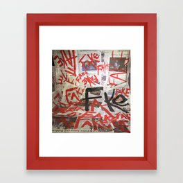 Fake News. Framed Art Print
