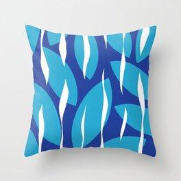 Serpan Blue on Blue Pattern Throw Pillow