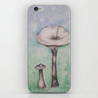 mushrooms iPhone & iPod Skins featuring mushrooms by Diane Nicholson
