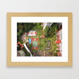 Singapore aerial drone Framed Art Print
