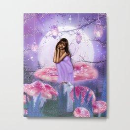 Mushroom Fae Metal Print