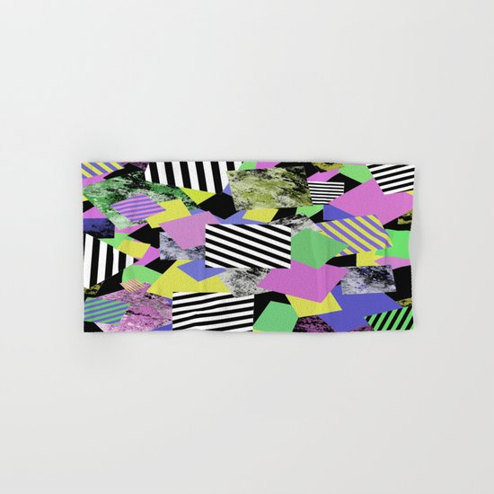 Crazy Squares - Abstract, Geometric Pop Art Hand & Bath Towel